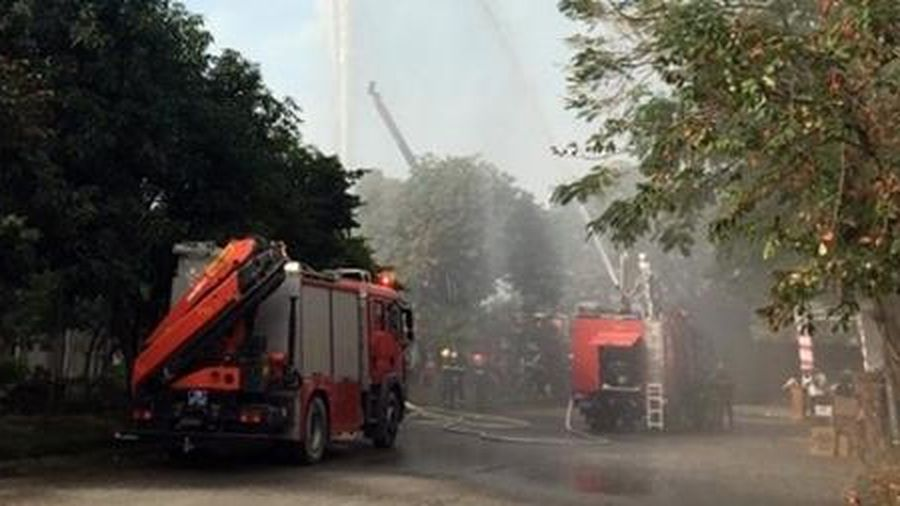 Diễn tập phương án chữa cháy, cứu nạn cứu hộ tại Cụm công nghiệp
