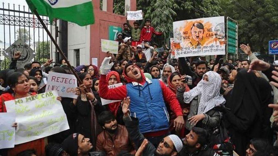 Biểu tình lan rộng tại thủ đô của Ấn Độ để phản đối luật quốc tịch mới