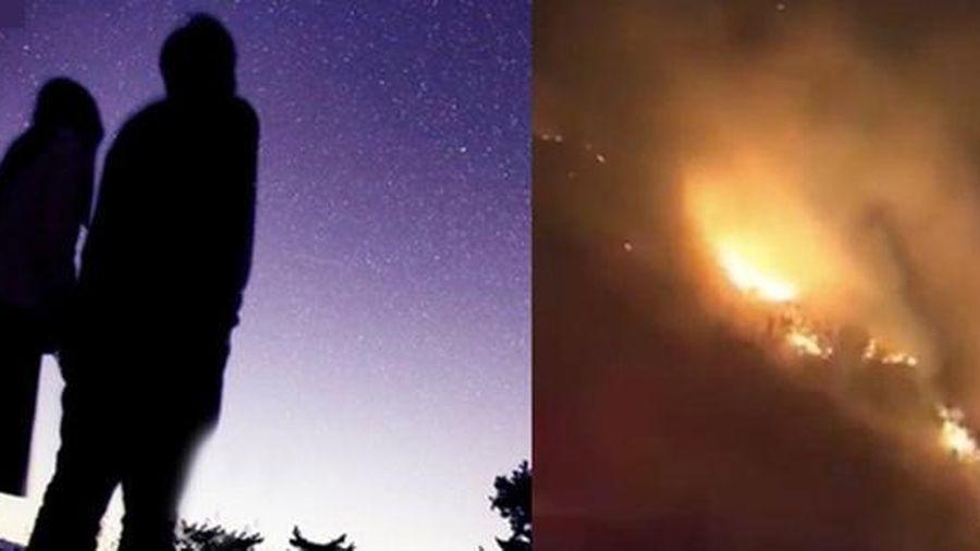 Hành động đáng lên án của cặp tình nhân rủ nhau lên núi gây ra vụ cháy rừng lớn