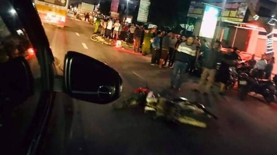 Va chạm xe máy, một chiến sỹ công an tử vong tại chỗ