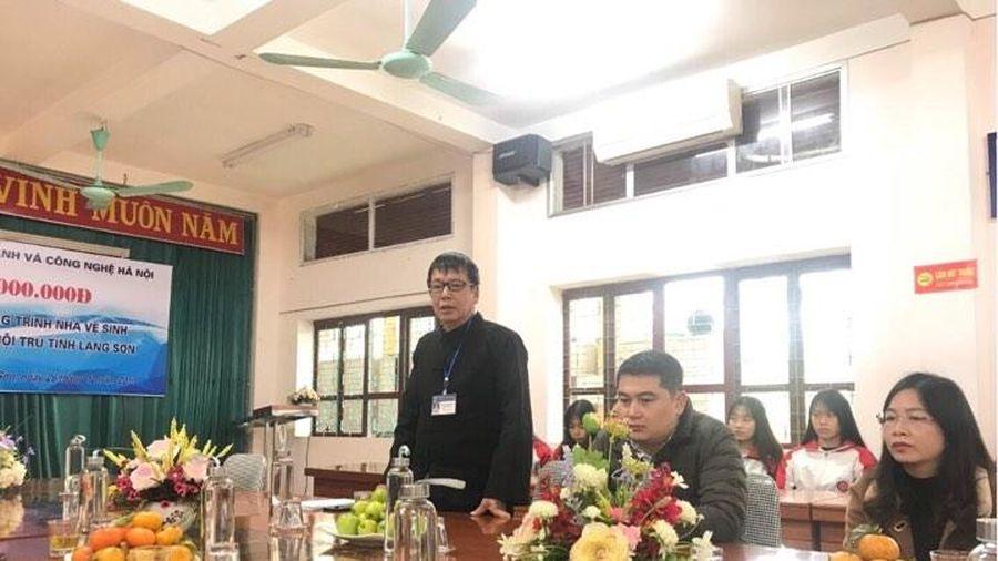 Trường Đại học Kinh doanh và Công nghệ Hà Nội hỗ trợ xây dựng cho Trường THPT Dân tộc nội trú tỉnh Lạng Sơn