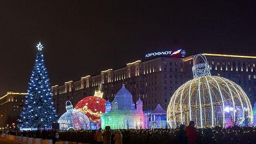 Người dân Moscow (LB Nga) hân hoan chào đón năm mới