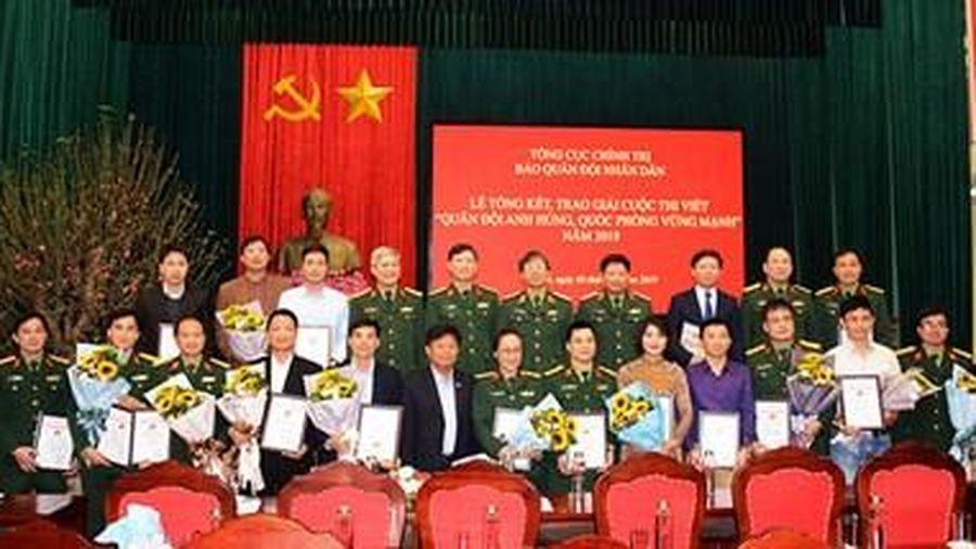 Tổng kết và trao giải Cuộc thi viết 'Quân đội anh hùng, quốc phòng vững mạnh'