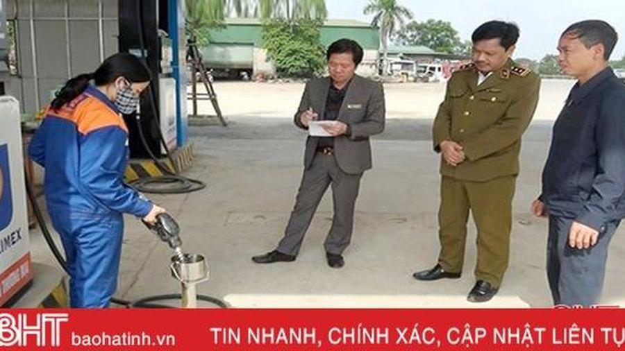 7 cửa hàng xăng dầu tại Hà Tĩnh bị phạt vì vi phạm các quy định