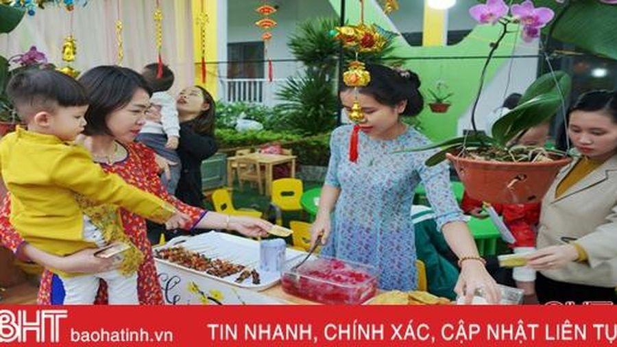 Tiễn năm cũ, đón năm mới cùng Lễ hội ẩm thực của các bé Trường Mầm non Trung Kiên