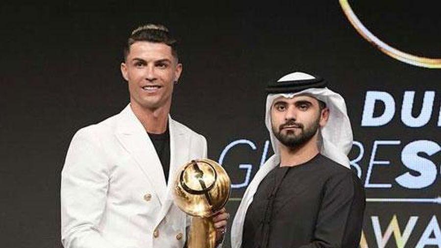 Ronaldo nhận danh hiệu 'Cầu thủ hay nhất năm' tại Globe Soccer Awards