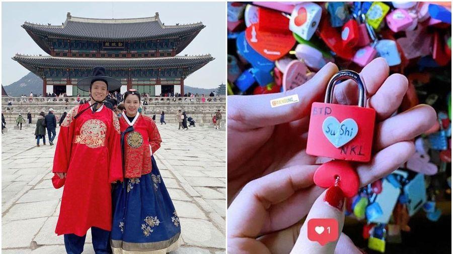 Tiến Dũng đưa vợ 'vi vu' xứ Hàn đầy tình cảm, dân mạng ngưỡng mộ khen tặng: 'Ông chồng vàng của làng bóng đá Việt đây rồi!'