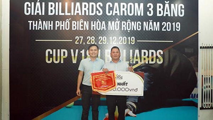 Cơ thủ Lê Tuấn Hảo vô địch Giải billiards carom 3 băng TP.Biên Hòa mở rộng