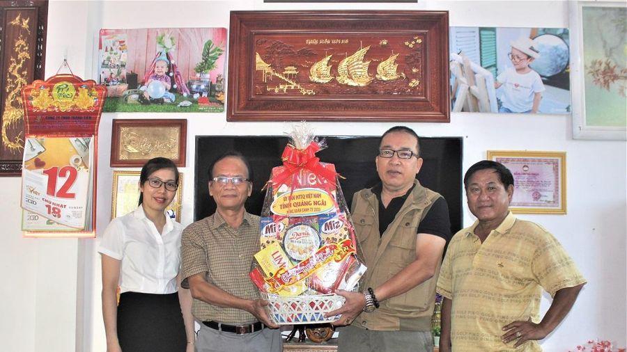 MTTQ tỉnh Quảng Ngãi chúc Tết Văn phòng báo Đại Đoàn Kết tại Quảng Nam