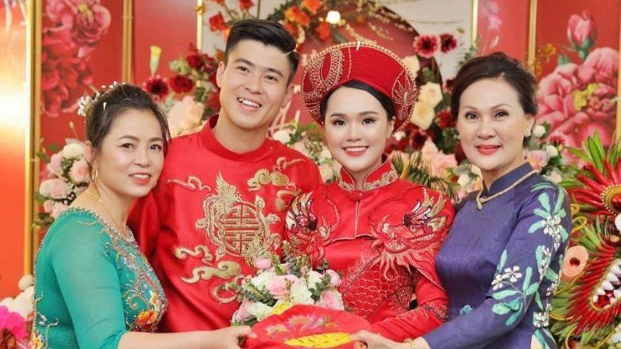 Duy Mạnh, Quỳnh Anh cảm ơn bố mẹ sau lễ ăn hỏi