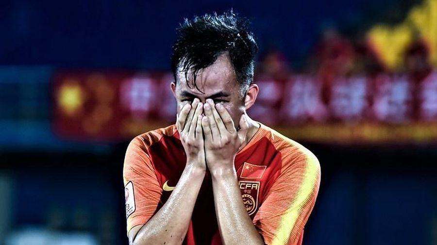 Cầu thủ U23 Trung Quốc òa khóc sau 3 thất bại tại giải châu Á
