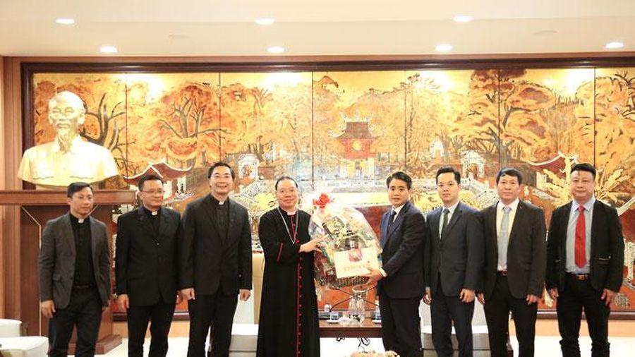 Tòa Tổng Giám mục Hà Nội chúc Tết UBND TP dịp Tết Nguyên đán Canh Tý 2020