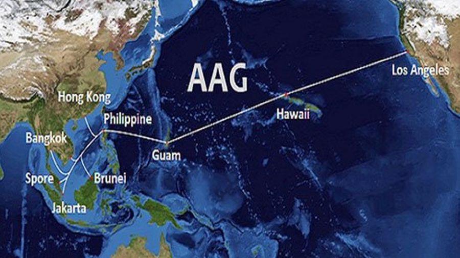 Hoàn thành sửa chữa cáp quang AAG