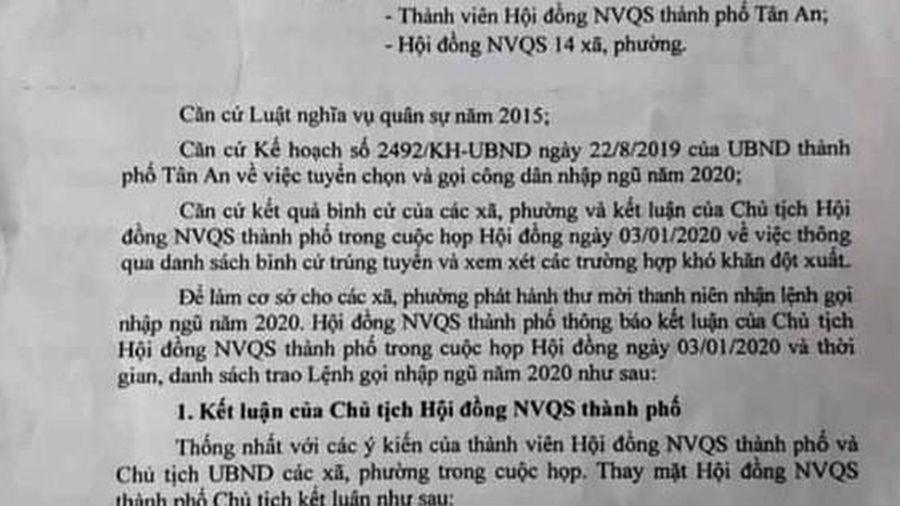 Chủ tịch UBND TP Tân An nói gì về 'hoãn nghĩa vụ vì nợ xã hội đen'?