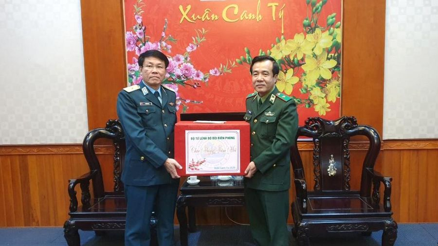 Thiếu tướng Lê Đức Thái chúc Tết Bộ Tư lệnh Quân chủng Phòng không - Không quân