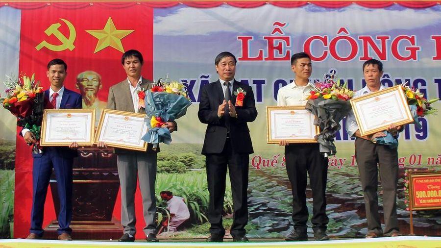 Xã đầu tiên của huyện Quế Phong về đích nông thôn mới