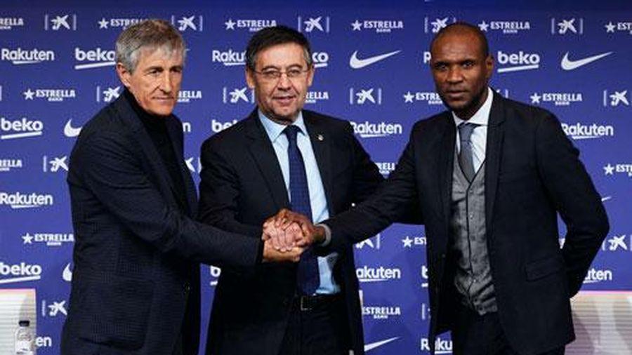 Chủ tịch Barca đặt mục tiêu 'ăn ba' với tân HLV Quique Setien
