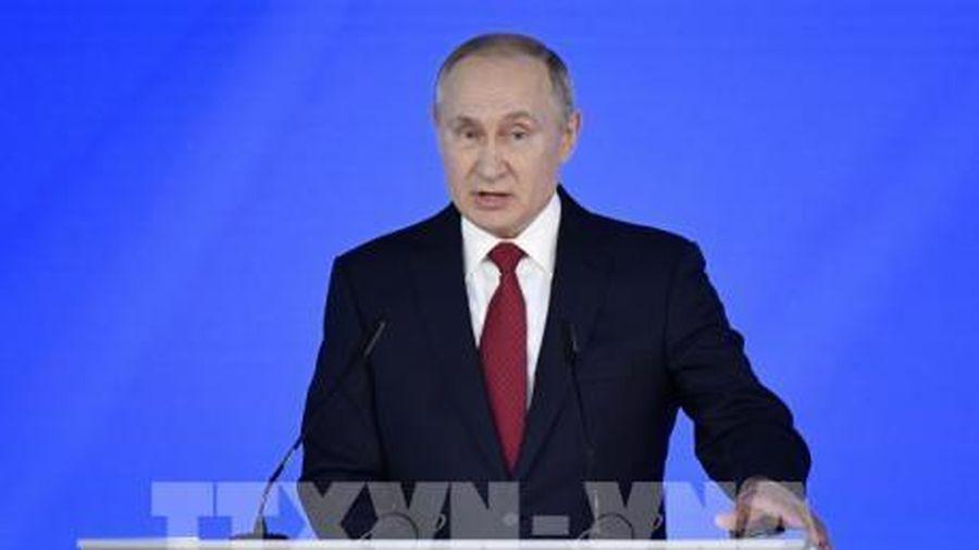 Tổng thống Nga Vladimir Putin đọc Thông điệp liên bang lần thứ 16
