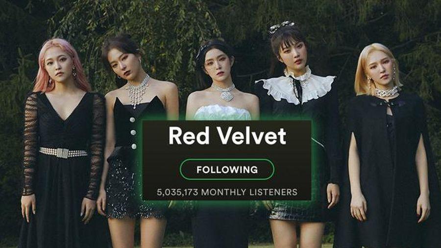 Red Velvet trở thành nhóm nhạc Kpop thứ 3 đạt 5 triệu lượt nghe hàng tháng trên nền tảng âm nhạc quốc tế