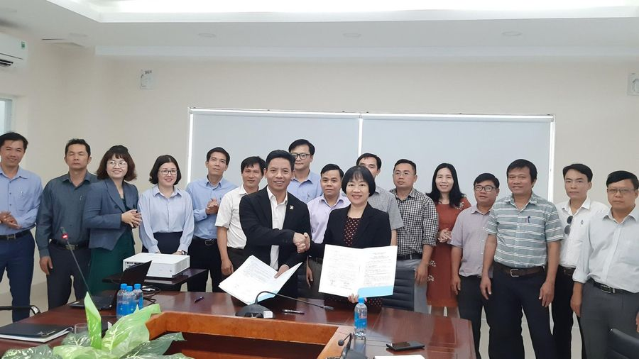 Đại học Xây dựng Miền Trung ký hợp tác đào tạo với Cao đẳng Kỹ nghệ II