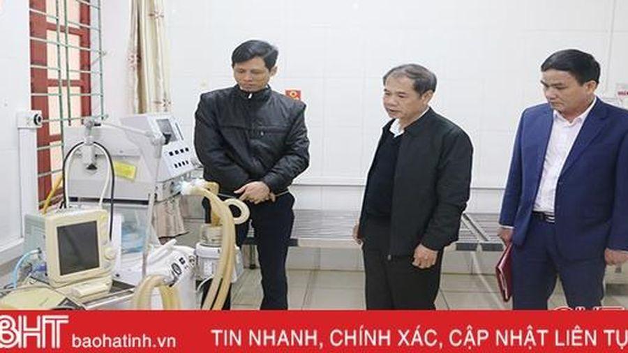 Sở Y tế Hà Tĩnh kiểm tra công tác phòng chống bệnh viêm phổi cấp tại các bệnh viện