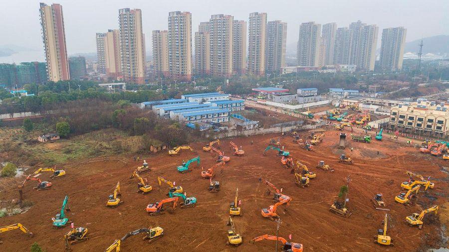 Hàng chục triệu người xem livestream xây bệnh viện dã chiến ở Vũ Hán trên Internet