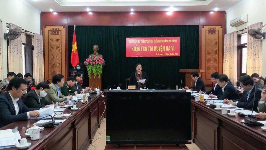 Phó Bí thư Thành ủy Nguyễn Thị Bích Ngọc: Bổ sung giải pháp, tình huống mới để kịp thời ứng phó với dịch Covid-19