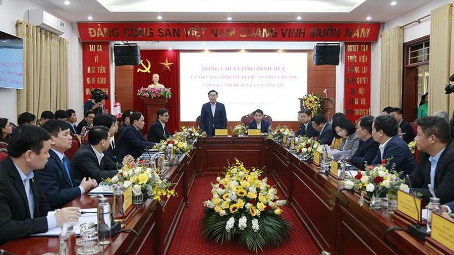 Bí thư Thành ủy Vương Đình Huệ: Lấy cải thiện đời sống người dân làm nhiệm vụ trọng tâm
