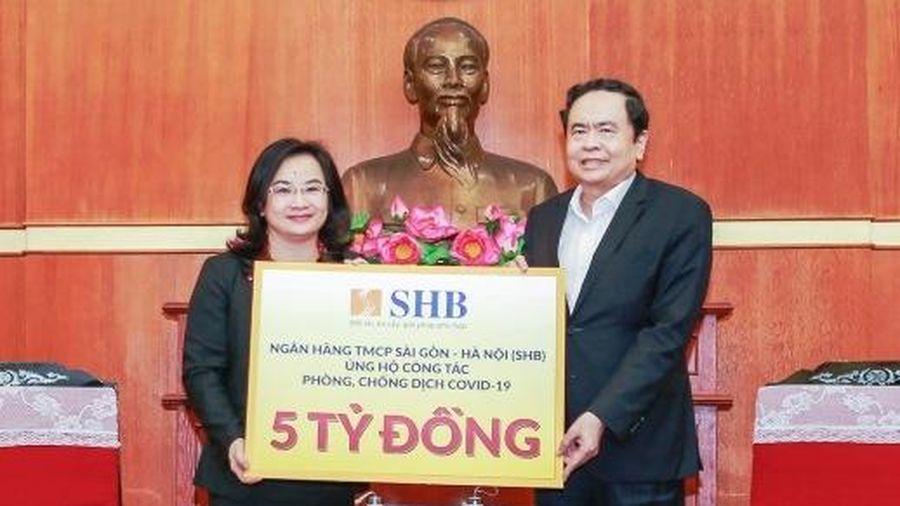 SHB ủng hộ năm tỷ đồng chung tay phòng, chống dịch Covid-19