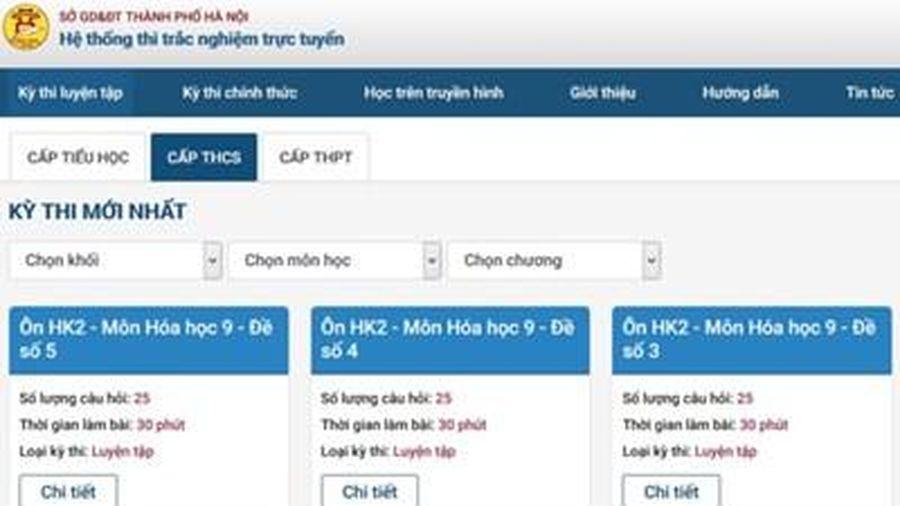 Triển khai đại trà hệ thống ôn tập trực tuyến khối 11, 12 cho học sinh Hà Nội