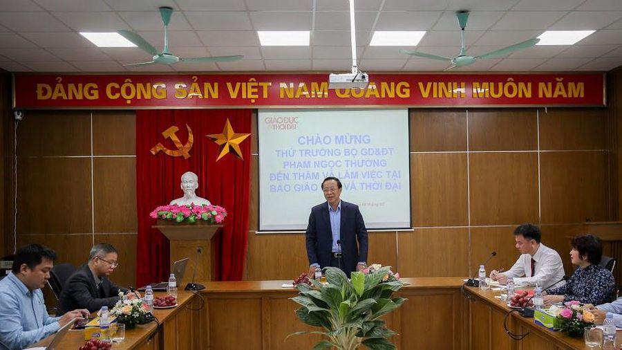 Thứ trưởng Phạm Ngọc Thưởng: Báo GD&TĐ đã làm tốt công tác truyền thông trong ngành giáo dục
