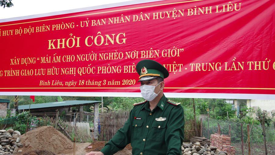 Khởi công xây dựng nhà 'Mái ấm cho người nghèo nơi biên giới' huyện Bình Liêu