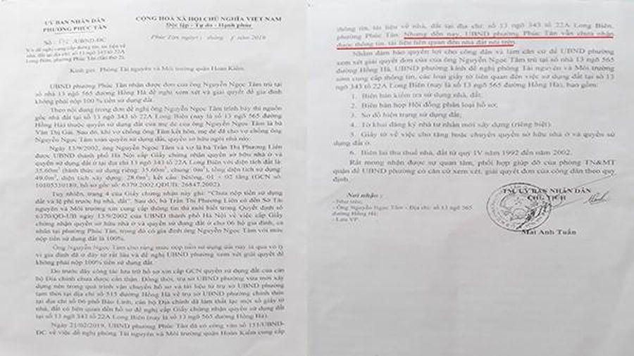 Cán bộ quận Hoàn Kiếm có vi phạm quy định về xử lý đơn thư công dân?