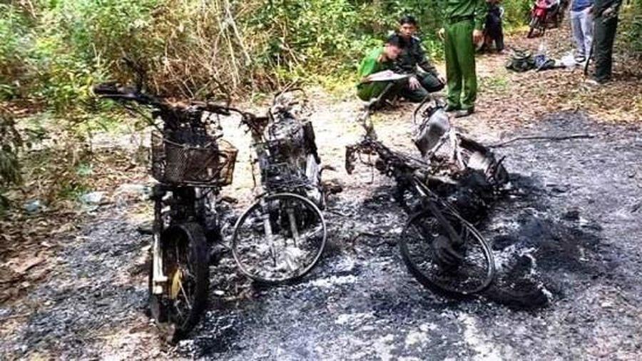 Điều tra vụ 3 xe máy của cán bộ bảo vệ rừng bốc cháy bất thường