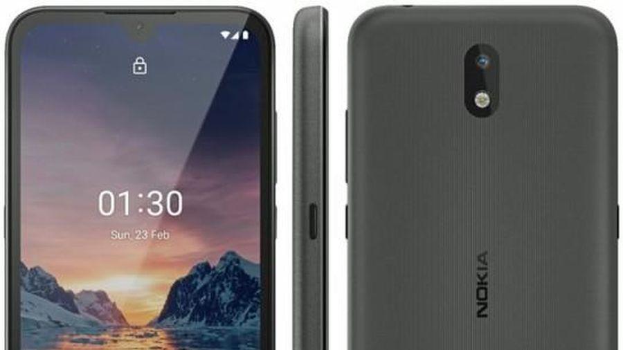 Hình ảnh rò rỉ Nokia 1.3 cho thấy màn hình notch và một camera sau