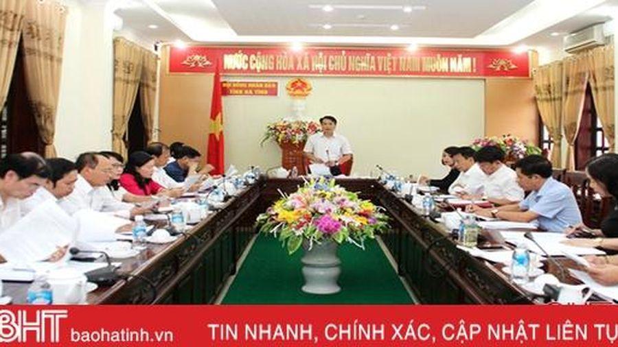 Thẩm tra các đề án, dự thảo nghị quyết trình Kỳ họp thứ 13 HĐND tỉnh Hà Tĩnh
