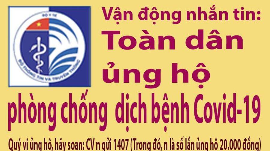 Ủng hộ phòng chống dịch bệnh COVID-19 qua tin nhắn tới đầu số 1407