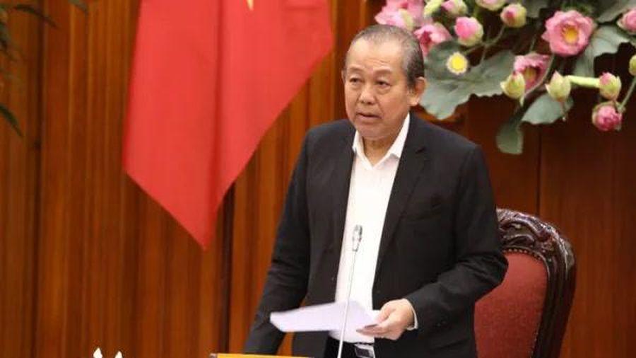 Phó thủ tướng Trương Hòa Bình: 'Anh nào sợ trách nhiệm thì xin nghỉ để người khác làm'