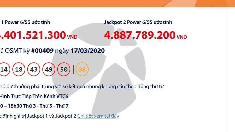 Kết quả xổ số Vietlott Power 6/55 tối ngày 19/3/2020: Lại 'nổ' hơn 108 tỉ đồng?