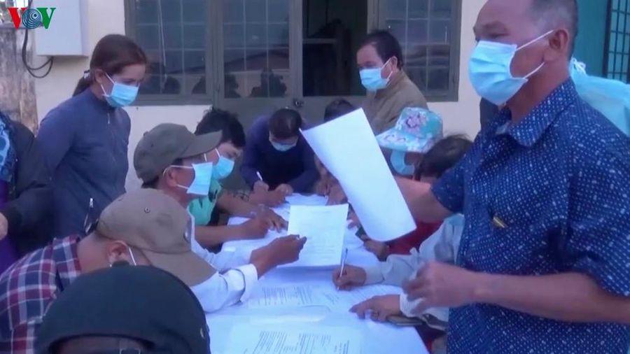 Gia Lai tiếp nhận, cách ly 80 người trở về từ Campuchia