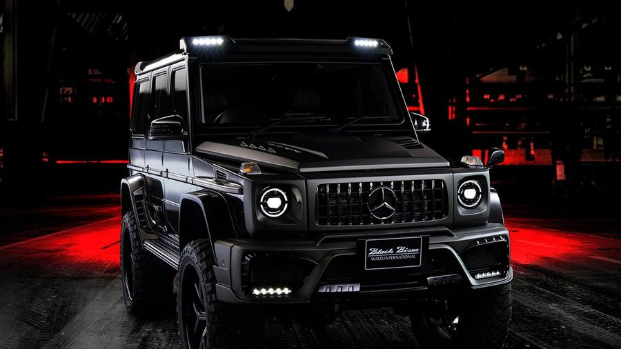Mercedes-Benz G-Class độ bánh lớn, ngoại hình hầm hố như xe quân sự