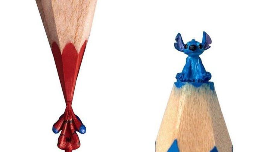 Thán phục trước những tác phẩm điêu khắc từ ruột bút chì cực dễ thương