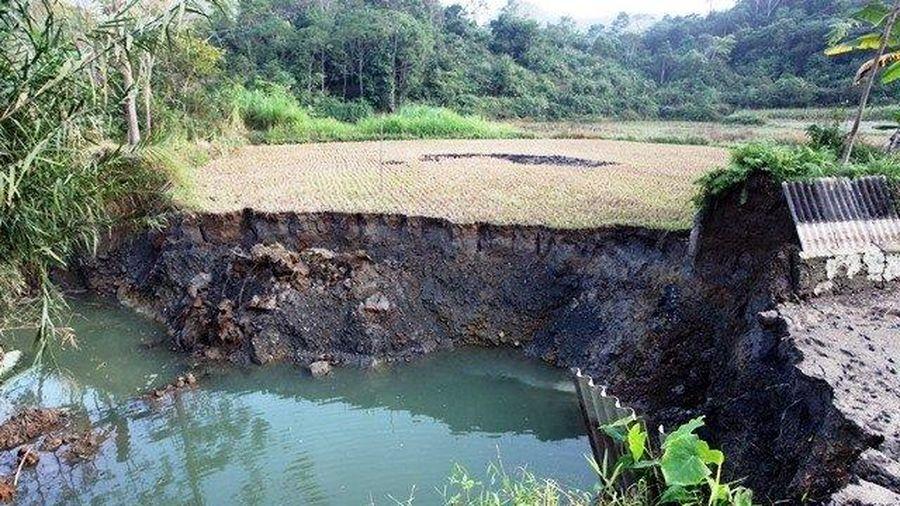 Sụt lún đất ở Bắc Kạn là do hạ thấp nước ngầm trên diện rộng
