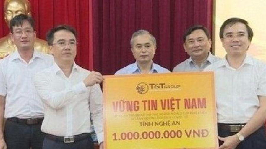 Tập đoàn T&T Group hỗ trợ 1 tỷ đồng cho người nghèo Nghệ An ảnh hưởng dịch Covid-19