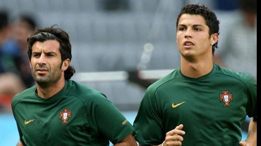 Figo không chọn Cristiano Ronaldo là đồng đội hay nhất sự nghiệp