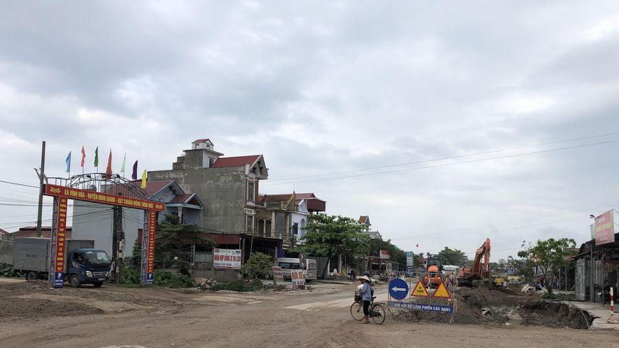 Dồn lực thi công tuyến 'xương sống' của huyện Ninh Giang (Hải Dương)