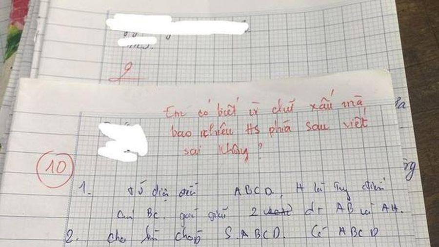 Chép bài của nam sinh học giỏi nhưng chữ xấu, cả nhóm nhận cái kết 'đắng ngắt'
