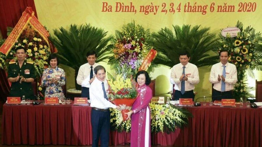 Đồng chí Hoàng Minh Dũng Tiến tái đắc cử chức Bí thư Quận ủy Ba Đình