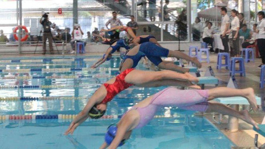 Sôi động giải bơi Hội khỏe Phù Đổng lần thứ X thành phố Hà Nội