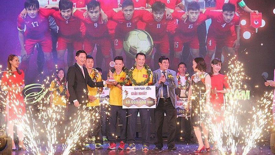 Giây phút đăng quang giải Fair Play của Futsal Việt Nam